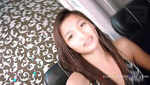 Cute young Japanese roommate loves anal sex
