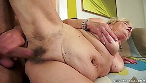 Lotten Halloween Granny Pussy Love and Cumshots
