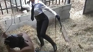 Latin Cruel Whipping In Stables