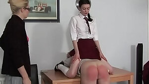 he gets a spanking infront of his niece