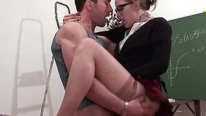 Amateur french student hard sodomized and fisted in classroom