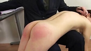 Spanked by rude teacher
