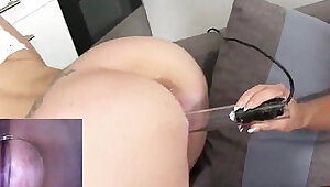 Foxy czech kitten spreads tight vagina to the unusual