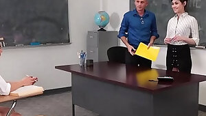InnocentHigh Teaching Assistant Fucks Student Professor