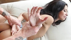 Roughfucked 19yo fucked on the couch