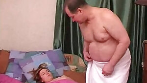 Russian Dad with daughter fuck .hump