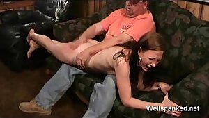 Kelly Spanked and fuckked