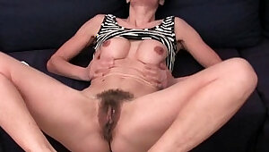 Older women soaking their cotton panties with her wet pussy juice