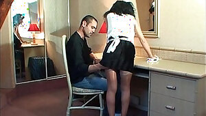 Amateur french maid with cum mouth